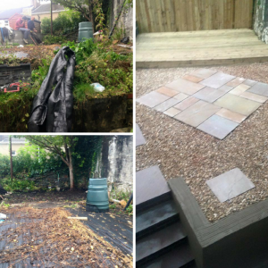 Before and after pictures of a job carried out for Sarah Williams